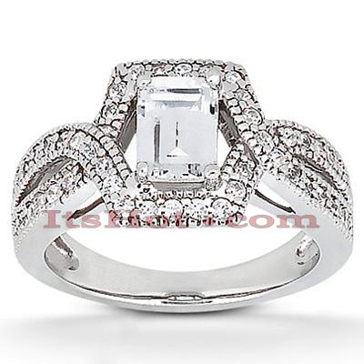 14K Gold Unique Diamond Engagement Ring 0.94ct