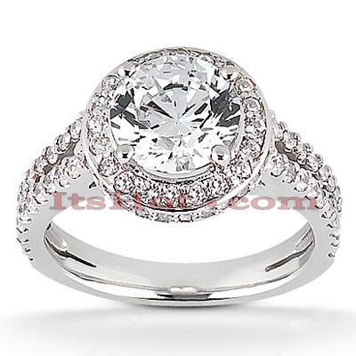 14K Gold Unique Diamond Engagement Ring 0.97ct