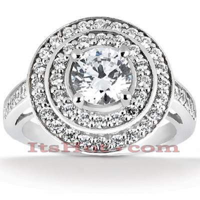 14K Gold Unique Diamond Engagement Ring 1.01ct