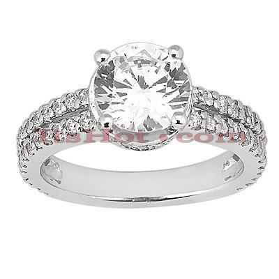 14K Gold Unique Diamond Engagement Ring 1.03ct