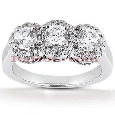 14K Gold Unique Diamond Engagement Ring 1.07ct