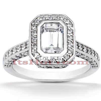 14K Gold Unique Diamond Engagement Ring 1.19ct