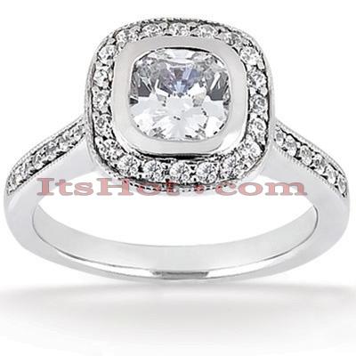 14K Gold Unique Diamond Engagement Ring 1.26ct