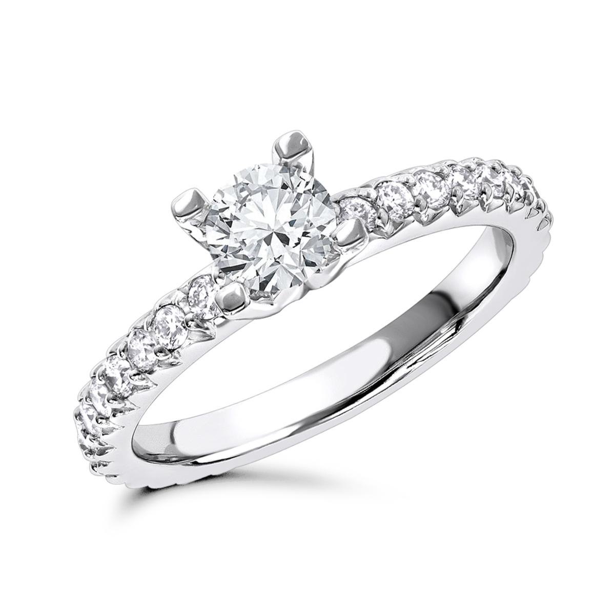 14K Gold Unique Diamond Engagement Ring 1.28ct