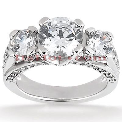 14K Gold Unique Diamond Engagement Ring 1.33ct