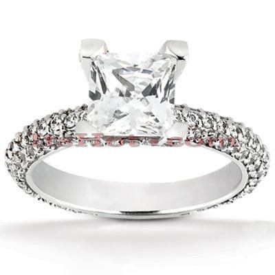 14K Gold Unique Diamond Engagement Ring 1.58ct
