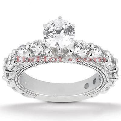 14K Gold Unique Diamond Engagement Ring 2.26ct