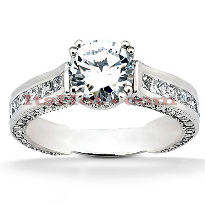 14K Gold Unique Diamond Engagement Ring 2.64ct