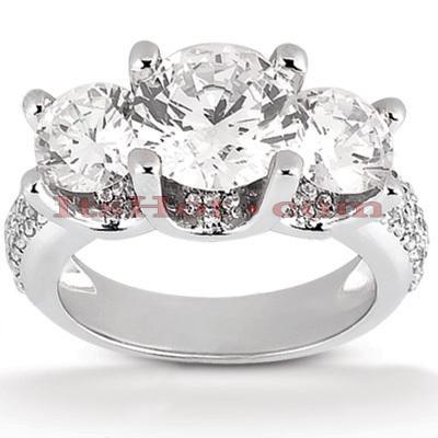 14K Gold Unique Diamond Engagement Ring 2.90ct
