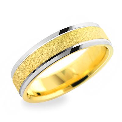 14K Gold Urbane Wedding Band for Men