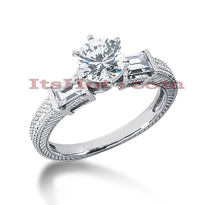 14K Gold Vintage Diamond Engagement Ring 0.90ct