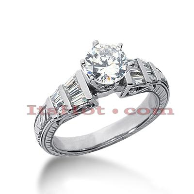 14K Gold Vintage Diamond Engagement Ring 1.04ct