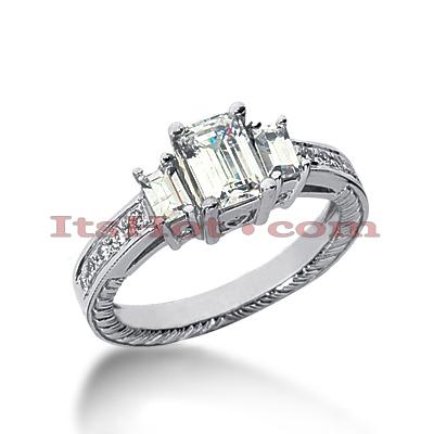 14K Gold Vintage Diamond Engagement Ring 1.29ct