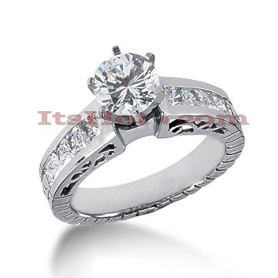 14K Gold Vintage Diamond Engagement Ring 1.39ct