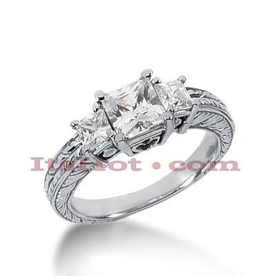 14K Gold Vintage Diamond Engagement Ring 1.57ct