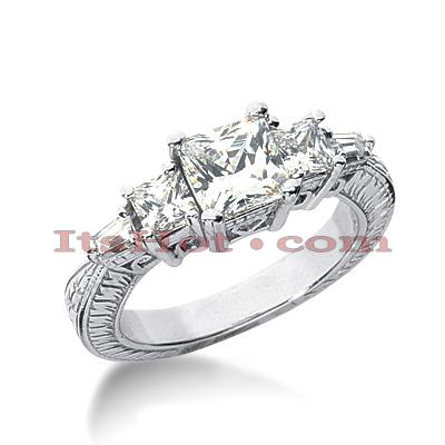 14K Gold Vintage Diamond Engagement Ring 1.91ct
