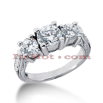 14K Gold Vintage Diamond Engagement Ring 2ct
