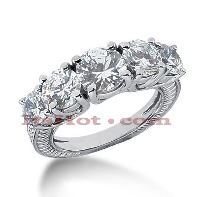 14K Gold Vintage Diamond Engagement Ring 3.35ct