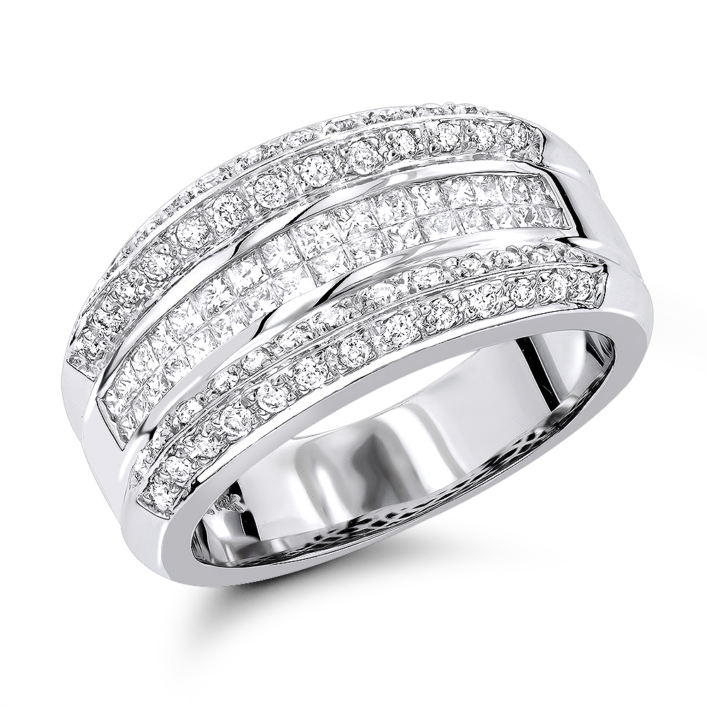 14K Gold Womens Diamond Bands Collection Item 1.33ct