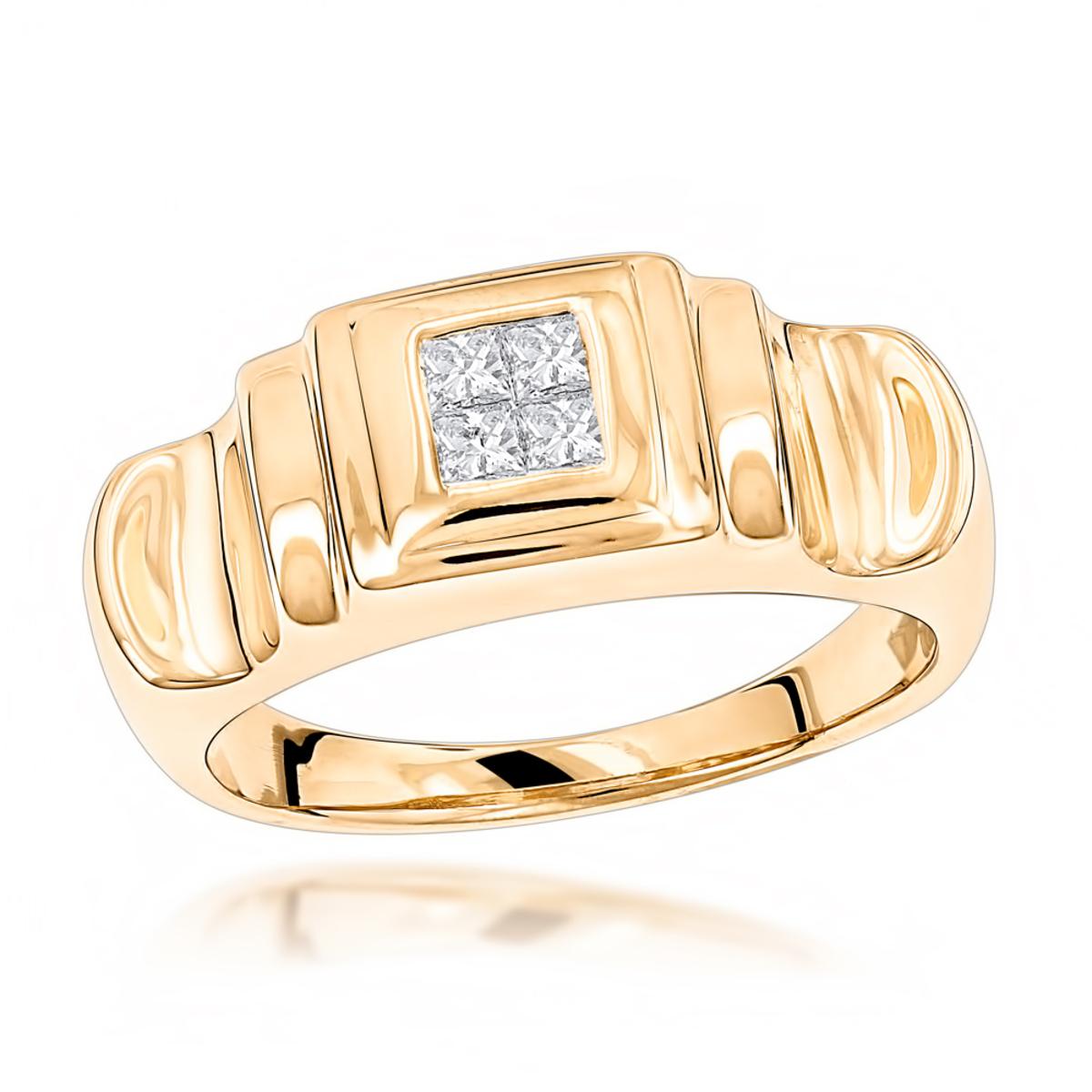 14K Gold Womens Diamond Ring Princess Diamonds 0.25ct