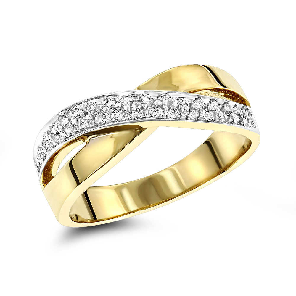 14K Gold Womens Round Diamond Ring 0.3ct