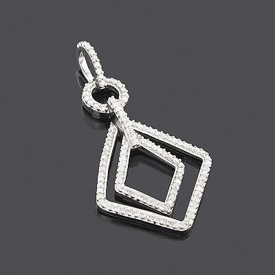 14K Ladies Diamond Pendant 0.35ct