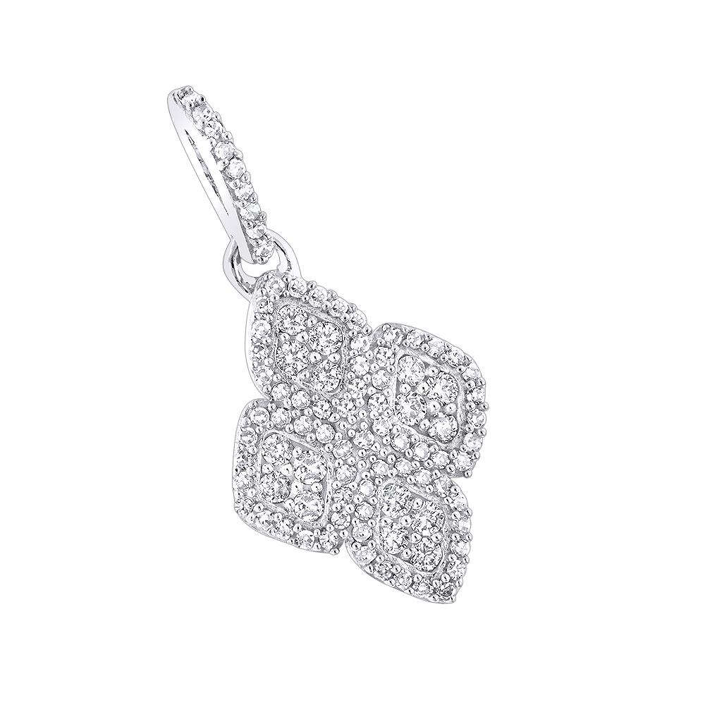 14K Ladies Diamond Pendant 0.42ct