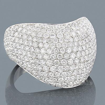 Luxurman Cocktail Rings 14K Gold Designer Ladies Pave Diamond Ring 2.69ct