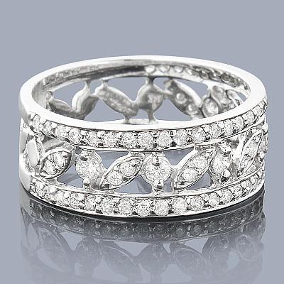 14K Ladies Round Diamond Ring 0.96ct