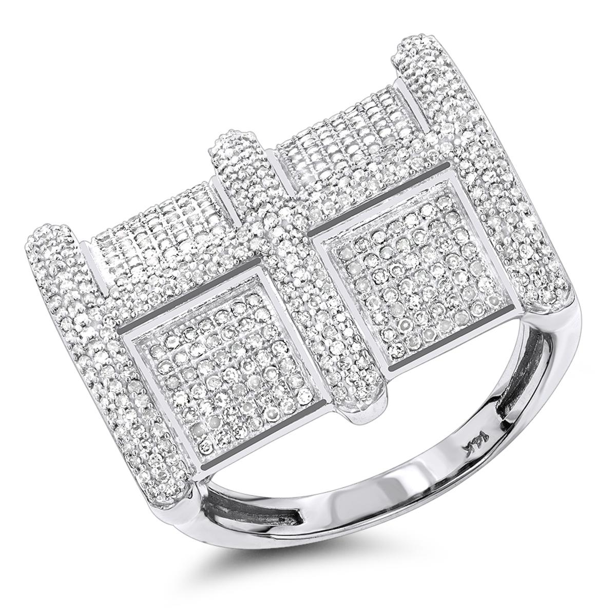 14K Mens Genuine Diamond Ring 1.20ct