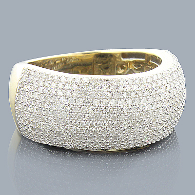 14K Pave Diamond Band 1.20ct