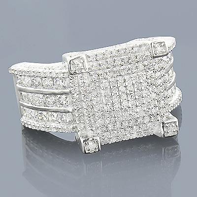 14K Gold Pave Diamond Engagement Ring 1.81ct