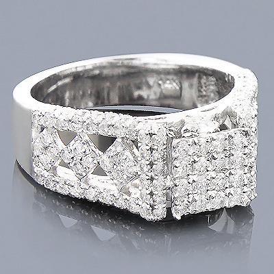 14K Pave Diamond Engagement Ring 1.84ct