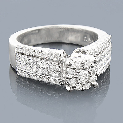 14K Pre-Set Diamond Engagement Ring 1.08ct