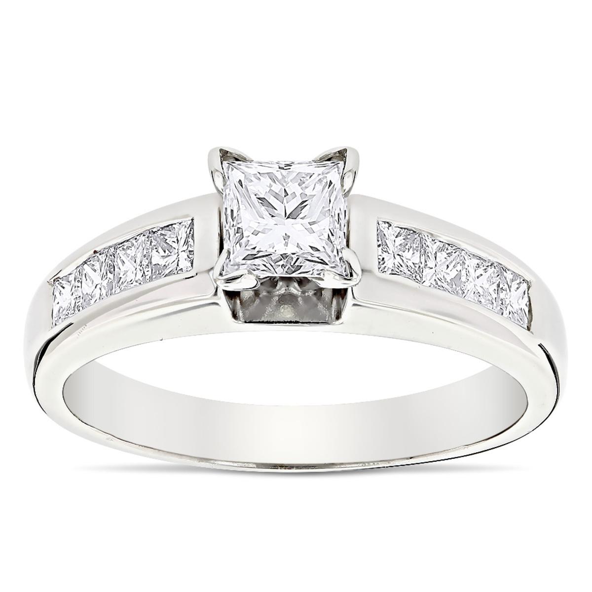Princess Cut Diamond Engagement Ring 0.66ct 14K Gold
