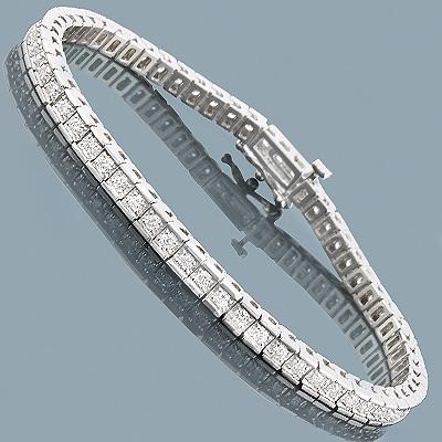 14K Round Diamond Tennis Bracelet 1.87ct