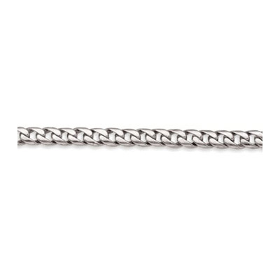 14K Solid White Gold Miami Cuban Link Chain 8mm, 20in - 40in