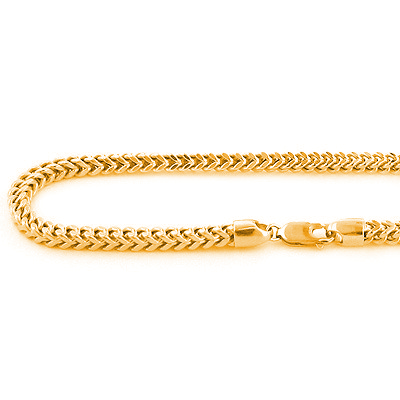 14k Solid Yellow Gold Franco Chain 4mm 24-40in