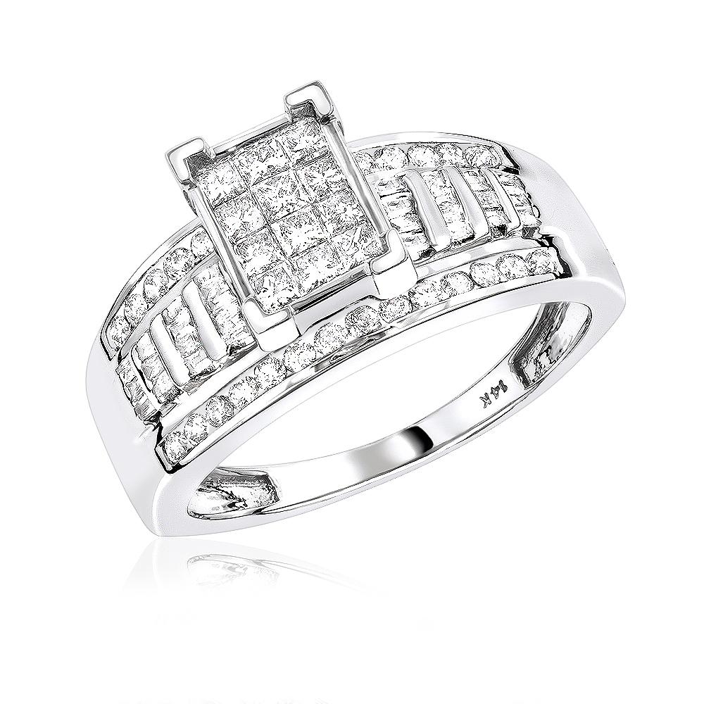 14K Gold Unique Diamond Engagement Ring 1.8ct