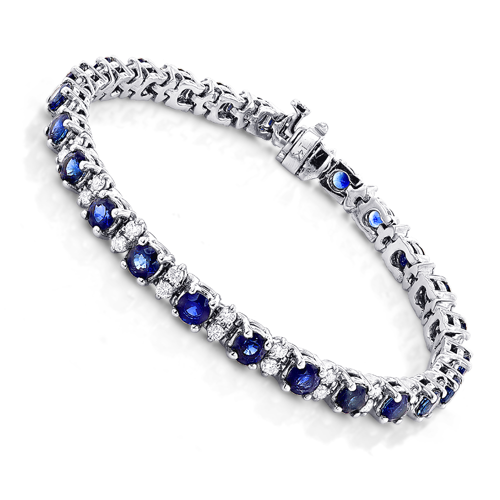 K White Gold Diamond S Link Tennis Bracelet