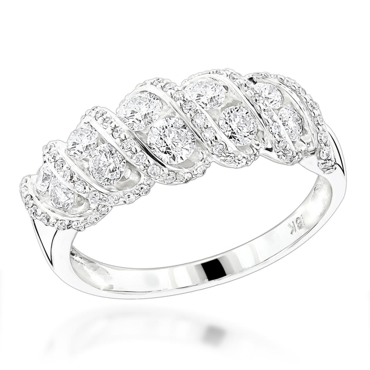 18K Gold Designer Womens Diamond Rings Collection Item 1.5ct