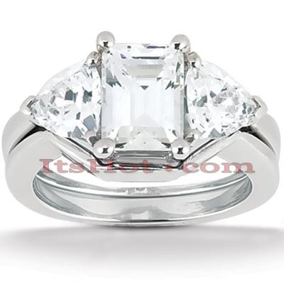 18K Gold Diamond Engagement Ring Set 1.15ct