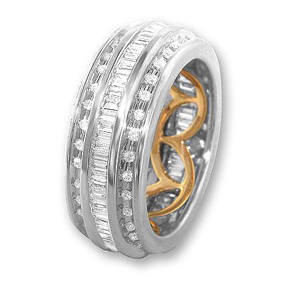 18K Gold Diamond Eternity Band Ring 1.68ct