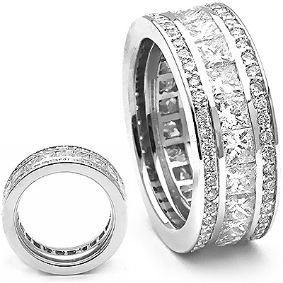 18K Gold Diamond Eternity Rings Collection Item 5ctw