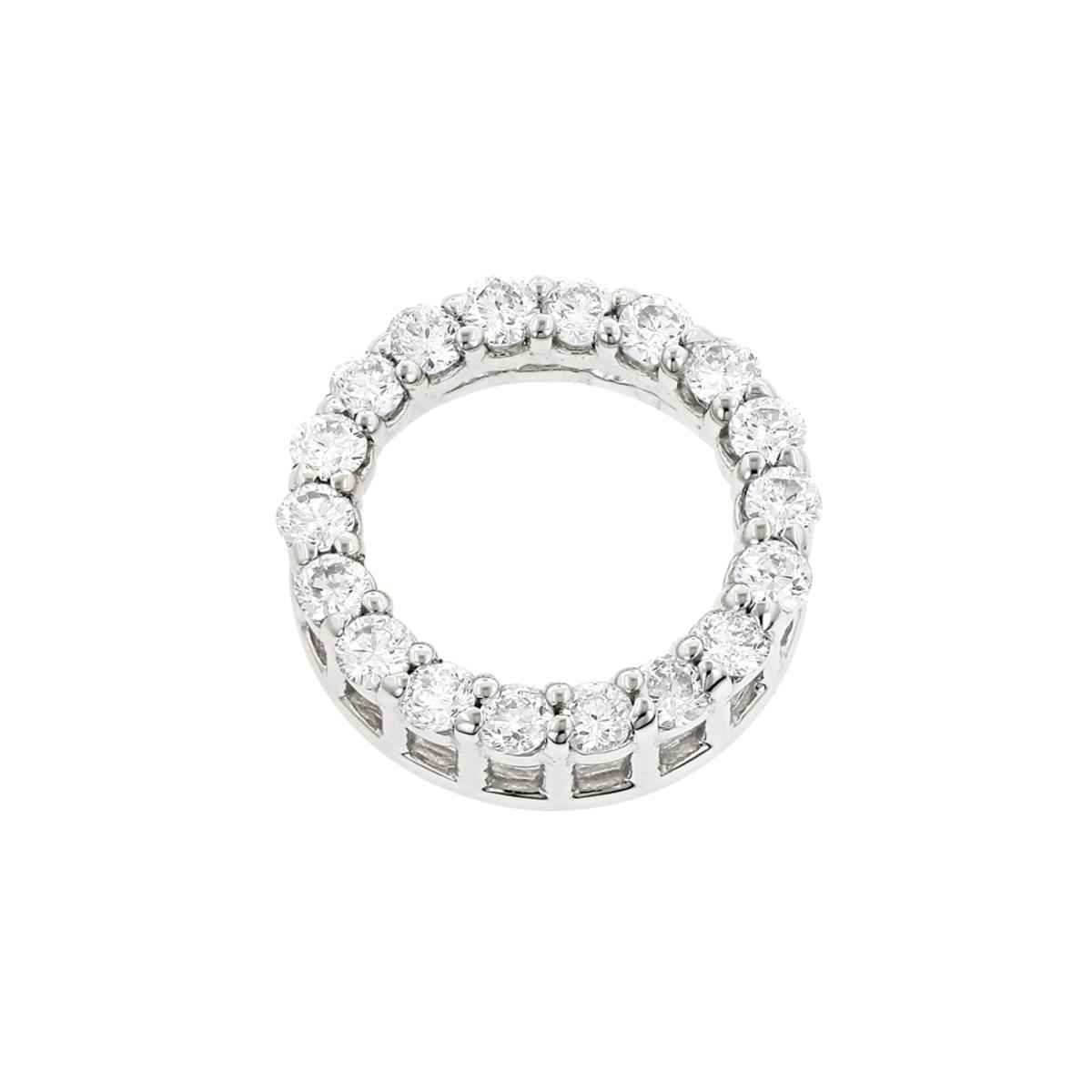 18K Gold Round Diamond Circle of Love Pendant 0.32ct