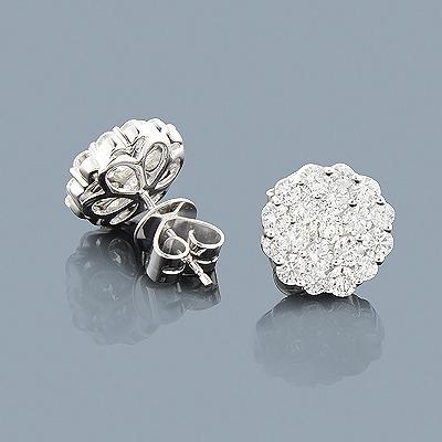 2 Carat Diamond Stud Earrings 14K Gold
