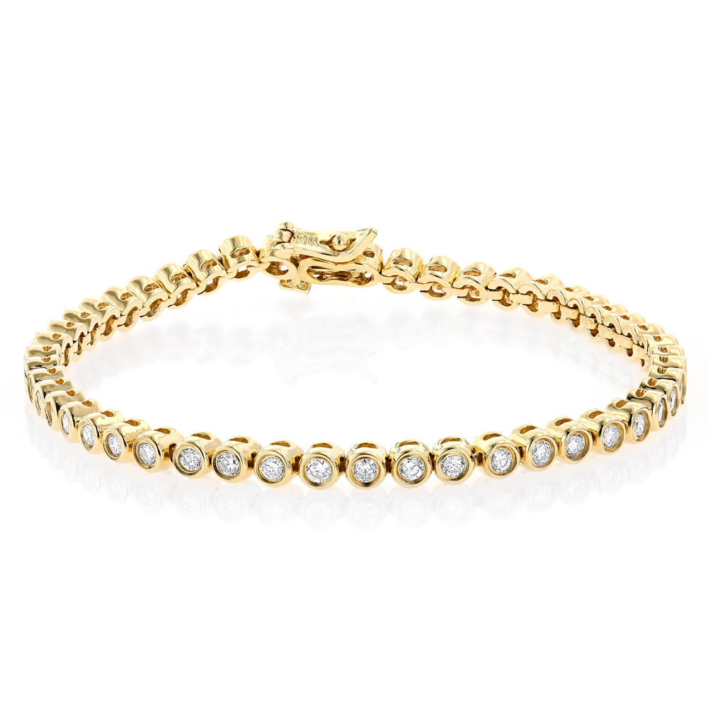 Carat Diamond K Gold Tennis Bracelet