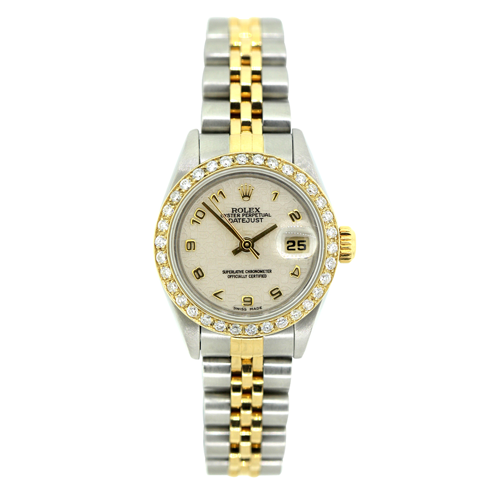 26mm Rolex Oyster Perpetual Datejust Diamond Watch for Women 1ct