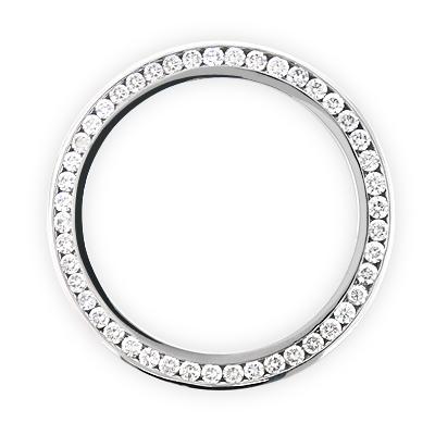 5 Carat Breitling Custom Diamond Bezel for Super Avenger