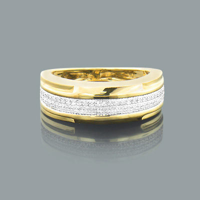 Affordable Diamond Wedding Band 0.30ct 14K Gold